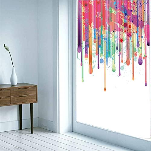 Vinilos para Cristales Privacidad Autoadhesivo Creatividad artística Anti UV La Película Decorativa de Moda es Adecuada para Oficina, Tienda, Hogar, Color 2(90x200cm)