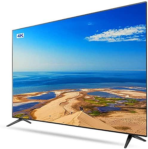 QDY Smart TV 50'9H Tela de dureza, reprodução de vídeo USB 2.0, projeção em telefone Celular, efeitos sonoros HiFi, Smart TV LCD compatível com vários Dispositivos