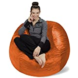 Sofa Sack - Plush, Ultra Soft Bean Bag Chair - Memory Foam Bean Bag Chair with Microsuede Cover - Stuffed Foam Filled Furniture and Accessories for Dorm Room - Tangerine 4'