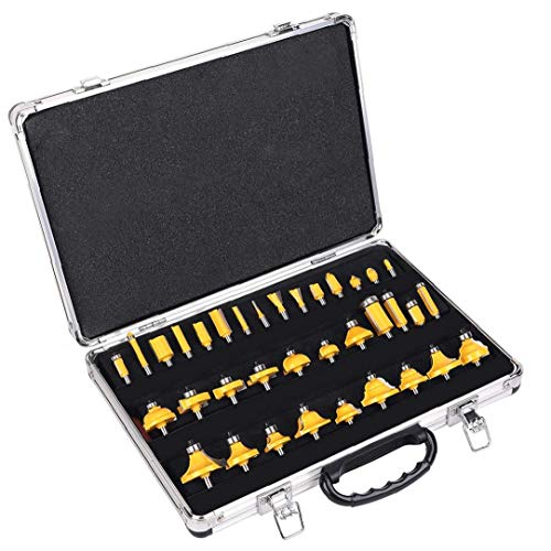 Milling Set Router Bits Set Woodworking 1/4 Inch Shank Milling Set for Trimming Machine 35 Pcs
