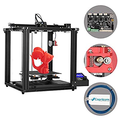 Creality Ender 5 Pro 3D Printer with Silent Mother Board, Upgraded Metal Feeder Extruder and Capricorn Bowden PTFE Tubing, Cmagnet Build Plate 220x220x300mm Print Size