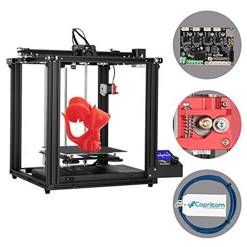 Comgrow Creality Ender 5 Pro Impresora 3D, con Placa Base Silenciosa, Extrusora de Metal Mejorada, Tubo de PTFE Capricorn Bowden, Plataforma Cmagnet, Tamaño de Impresión 220x220x300mm