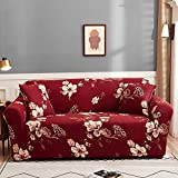 WXQY Funda de sofá elástica con Estampado Floral, Esquina de la Sala de Estar,...