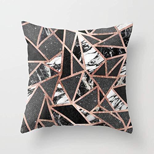 N\A Funda de cojín con Estampado geométrico Minimalista Moderno para decoración, Funda de Almohada con Cremallera Invisible Algodón Poliéster (# 13)