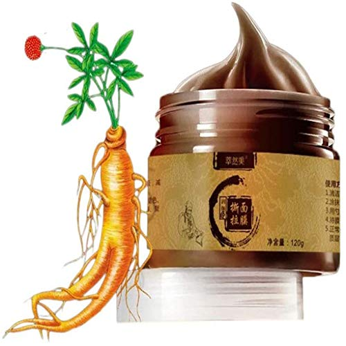 Ginseng Herbal Beauty Mascarilla Despegable,Deep Cleansing Mascarilla Exfoliante Limpiadora contra Puntos Negros y Acné para
