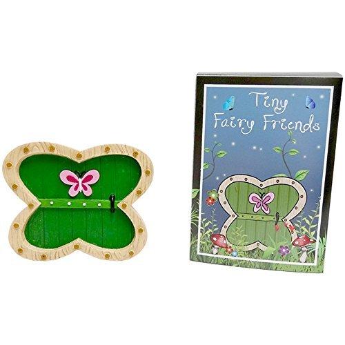 Vert Porte de Fée en Résine avec papillon en décoration dans une boîte cadeau