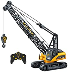 FULLY FUNCTIONAL: The Top Race 15 Channel Remote Control Construction toy Crane operates just like a real crane you see on a construction site. The RC crane can move forward/backwards right/left on the strong threaded anti slip tire tracks, the heavy...