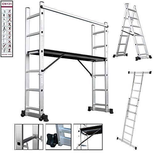Aluminio Multi Andamio multifunción Escalera escalera