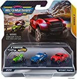 Micro Machines Starter Pack, Stunt - Includes 3 Vehicles, Motorcycle & Race Cars, Chance of Rare - Toy Car Collection