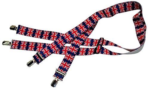 Hosenträger   Britische Flagge   Damen und Herren   One Size 120 cm   Anzug-Hosenträger   Arbeitskleidung-Hosenträger   Teichmann