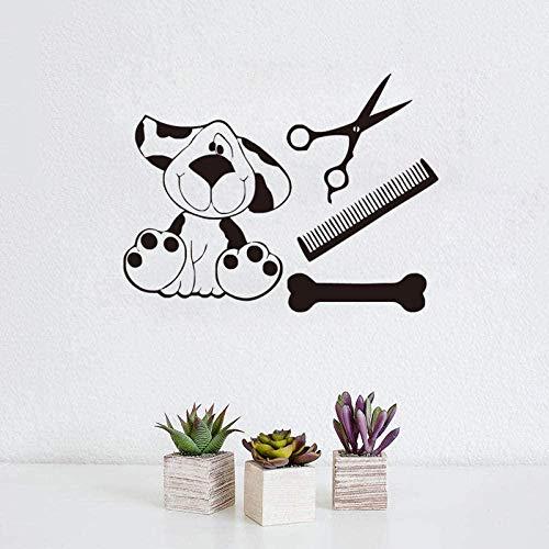 Sala de estar dormitorio decoración de la pared pegatinas de pared sala de estar pegatinas de pared perro de dibujos animados dormitorio de juguete lindo 60 * 45 cm