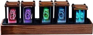 擬発光管時計 ニキシー管 クロック 時計 レトロモダン 置き時計 デジタル時計 シミュレーション グローチューブクロック 1600万色 RGBフルカラー LED