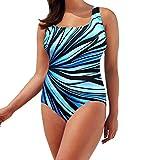K-youth Mujer Traje de Baño Bañador de una Pieza, Ropa De Baño Bohemia Bikini Mujer 2018 Talla Grande Bikini Push Up Mujer Playa Bañadores Bikinis con Relleno Traje De Baño Mujer (Azul, XXXL)
