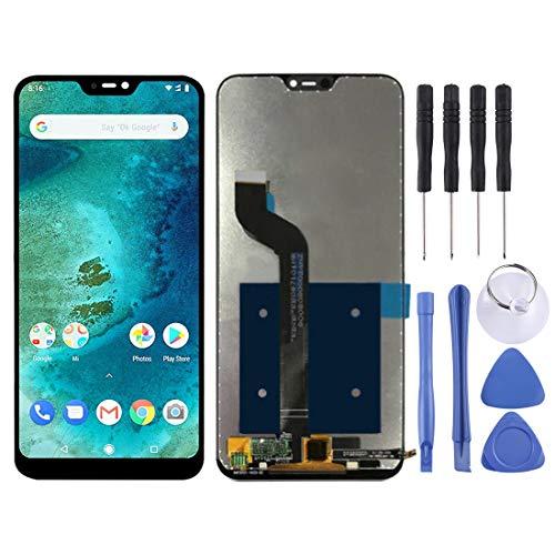 Zhangl Pantalla LCD del teléfono móvil Asamblea Completa de digitalizador y Pantalla LCD para Xiaomi Redmi 6 Pro (Mi A2 Lite) Pantalla LCD (Color : Black)