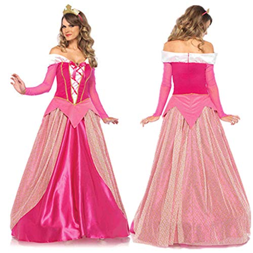 Bademantel Kurz Damen Rosa Sexy Aurora Dornröschen Kleid Halloween Kostüm Prinzessin Aurora Kleid Erwachsene Frauen Dornröschen Film Cosplay Kleidung-A_S