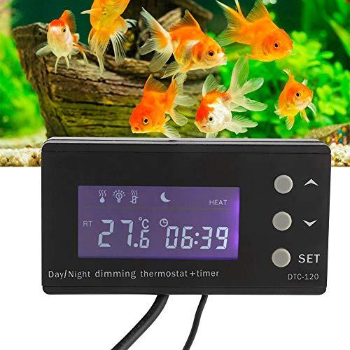 Naroote Termostato, Reptil Termostato Digital Controlador de Temperatura de temporización PID con Pantalla LCD(UE, 220V)