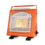 Honorall 1.7KW Portable Space Heater Multifunctional Gas Heater Ceramic Heater Adjustable Iron Stove Heater for Outdoors Tent Picnic
