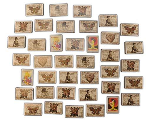 jameitop®Streichhölzer 39 Schachteln Nostalgie Zündholzschachtel Zündhölzer 1560 Stück Sicherheitszündhölzer, 41mm