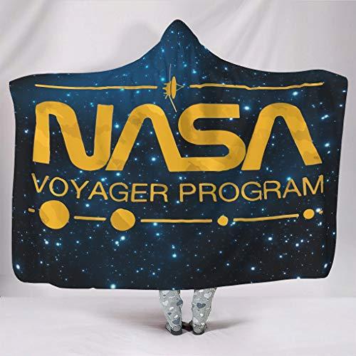 DOGCATPIG Sudadera con capucha unisex de la NASA, súper cálida, estándar, para una talla única, color blanco, 60 x 80 pulgadas