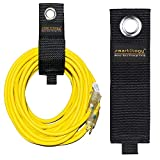 SMARTOLOGY 12 Pack Extension Cord Holder Organizer, Heavy-Duty Hook and Loop Storage Strap for House, Basement, RV, Garage Hook - Cable, Hose, Rope Wrap & Hanger for Indoor and Outdoor Use