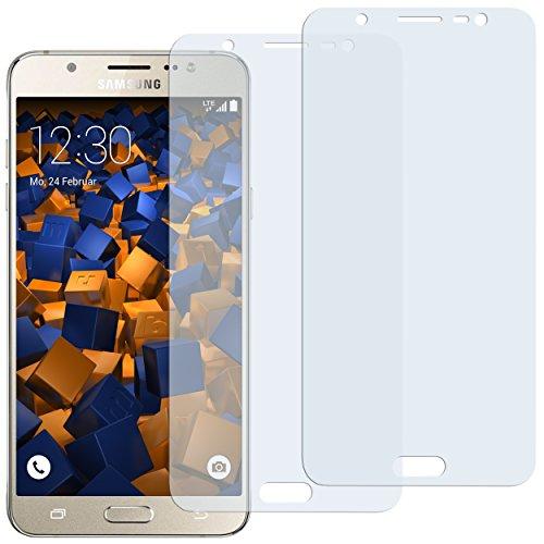 mumbi Schutzfolie kompatibel mit Samsung Galaxy J7 2016 Folie klar, Bildschirmschutzfolie (2X)