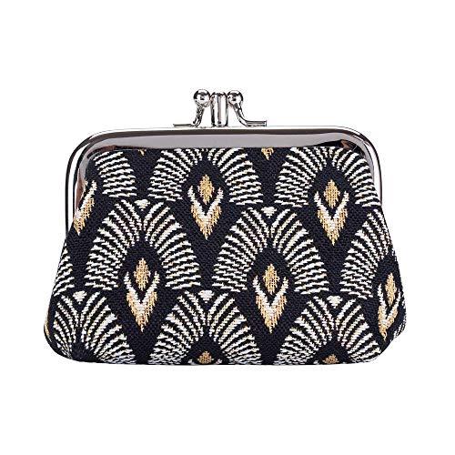 Signare Tapestry - Portamonete da donna con chiusura a doppia tasca, con motivo alla moda
