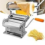 SONUG Máquina para hacer pasta, de acero inoxidable, 7 grosores ajustables, con 2 cortes, para hacer espaguetis y lasaña.