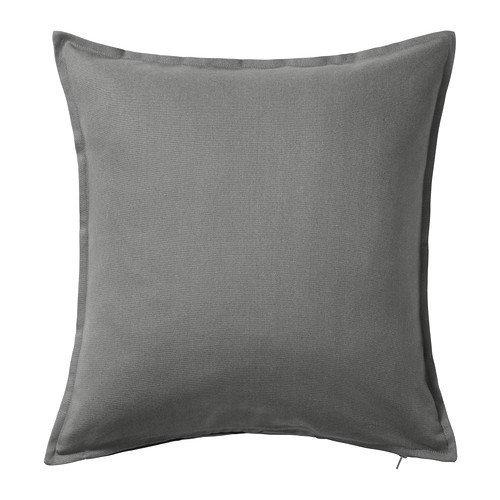 -Funda de cojín color gris IKEA Gurli 50 cmx 50cm., Gris, Pack de 2