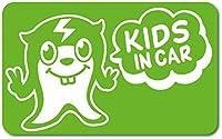 imoninn KIDS in car ステッカー 【マグネットタイプ】 No.64 ピースさん (黄緑色)