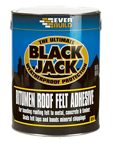 904 Roof Felt Adhesive - Cold applied adhesive to bond roofing felt to most surfaces - 5L - Black