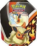4 boosters et 1carte Pokémon-V à collectionner dans une belle boîte métallique! A partir de 6 ans