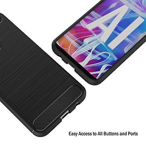 AICEK Hülle Compatible Huawei Mate 20 Lite, Schwarz Silikon Handyhülle für Huawei Mate 20 Lite Schutzhülle Karbon Optik Soft Case (6,3 Zoll) - 4