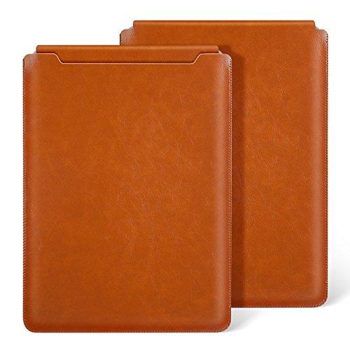 Ayotu Macbook Air 13 inch Leather Sleeve Case,Waterproof Sleek Leather Soft Sleeve Case Cover Bag for Macbook Air 13 / Pro 13 Retina 13.3-inch,Light Brown