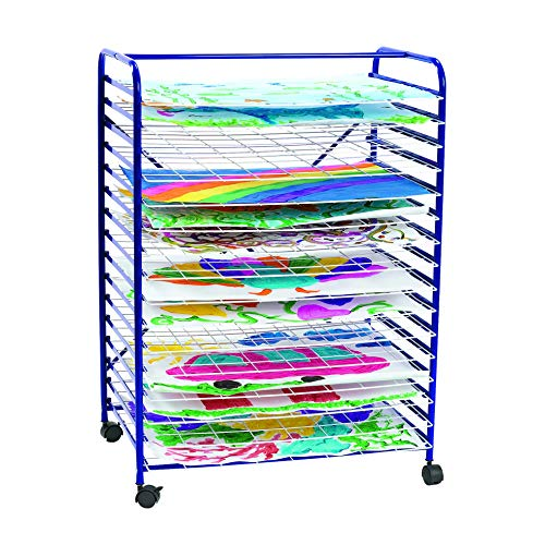 Colorations - MOBRACK Mobile Art Drying Rack for Home or Classroom Use, Keep Artwork Protected While Drying, Space Saving Rack, 36 1/2 Inches High x 26 1/2 Inches Wide x 17 1/2 Inches Deep