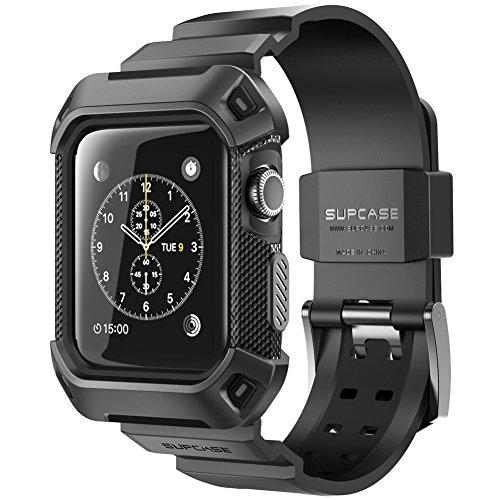 SupCase Funda para Apple Watch 3 [Unicorn Beetle Pro] Funda con Bandas de Correa Compatible con Apple Watch 38 mm 2015 2016 2017 (Negro)