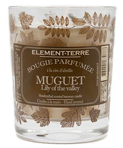 Bougie Parfumée 200 Grammes, 50 Heures Parfum Muguet