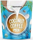 Opportuniteas Organic Coconut Coffee Powder, Coconut Milk + Colombian CofFree, No Sugar Added, Low Carb Keto Friendly, Instant Superfood Latte Mix, Health Supplement, Gluten Fre, Vegan & Non-GMO, 6 oz