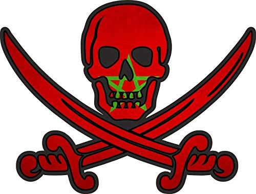 Akachafactory sticker piraat piraten Jack Rackham Calico vlag vlag MA marokko