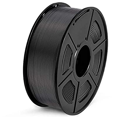 SUNLU PLA Filament 1.75mm 3D Printer Filament PLA 1kg Spool (2.2lbs), Dimensional Accuracy of +/- 0.02mm PLA Black