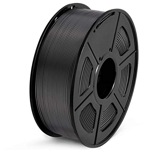 SUNLU PLA Filament 1.75mm 3D Printer Filament PLA 1kg Spool (2.2lbs), Dimensional Accuracy of +/- 0.02mm PLA Black