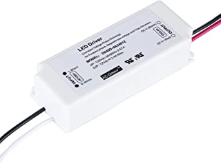 (UL Listed) Dimmable LED Driver 12 Volt 40 Watt IP67 Waterproof 12V LED Adapter 3.4A, Constant Voltage 40W Power Converter Triac Dimming, Work with Wall Dimmer, 120V AC Line Dimming for LED Lights