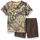 Carhartt Boys' Mossy Oak Camo Short Set, Mustang Brown, 6 Months