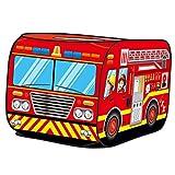 T TOOYFUL Kids Play Tent Playhouse Pretend Play Up Truck - Camion de Pompier
