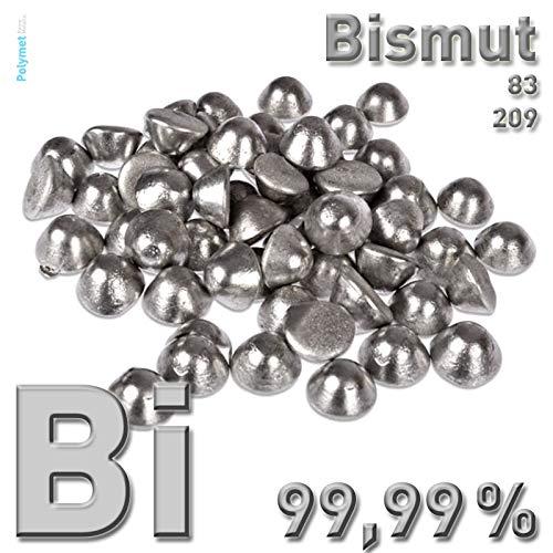 Bismut Bi 99,99 Pellets 250 g, 0,25 kg, CAS 7440-69-9 Wismut Bismuth Kristalle züchten