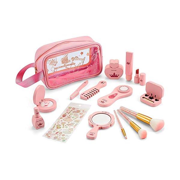 CIRO Wooden Makeup Kit for Kids-14 PCS Gifts Makeup Set for Girls Makeup for Kids...