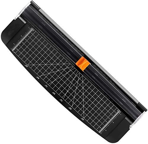 Mr. Right Papierschneider A4 Schneidemaschine Schneidegerät Papier Cutter Fotoschneider mit Automatischer Sicherheit Schutz für Homeoffice und Schule, Schwarz (A4) (Schwarz, A4)