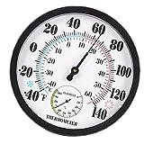Obelunrp Termómetro Termómetro Higrómetro Puntero Temperatura Temperatura Medidor de Humedad para Office Greenhouse Style 2