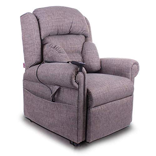 ZNZ Silla de ruedas, silla de rehabilitación médica para personas mayores, personas mayores, silla elevadora de motor dual Pride Mobility Essex - Silla reclinable eléctrica ortopédica tapizada - con
