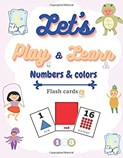 Let's play & learn numbers and colors: Flash cards
