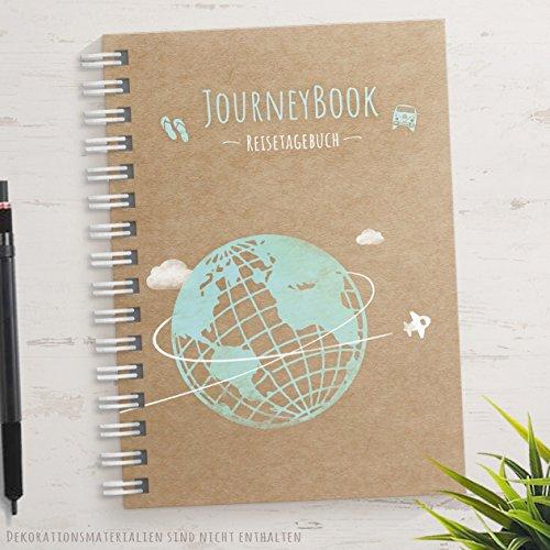Reisetagebuch zum Selberschreiben DIN A5 - Das Abschiedsgeschenk für eine (Welt-) Reise mit kleinen Aufgaben/Challenges und inspirierenden Reise-Zitaten